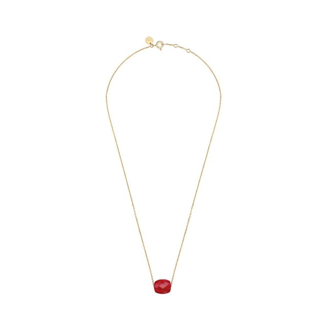 Collier or quartz rouge Morganne Bello