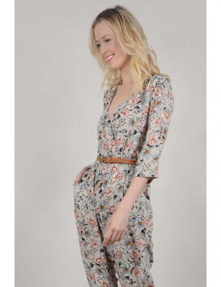 Combinaison pantalon femme fleurie