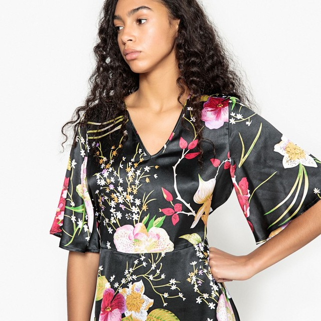 Robe patineuse motif fleurs Vero Moda