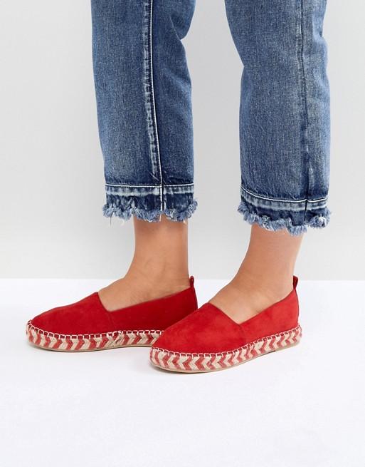 Espadrilles plateforme rouge Glamorous