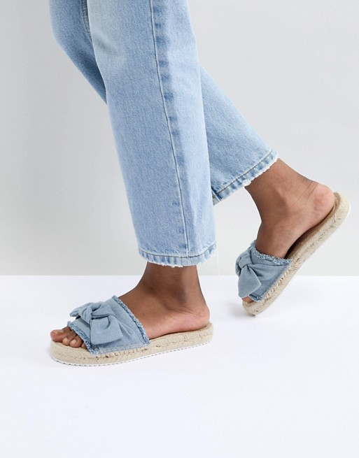 Mules espadrilles denim jean Miss Selfridge