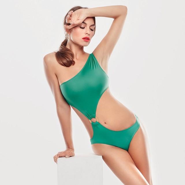 Maillot de bain femme 1 piece vert Huit