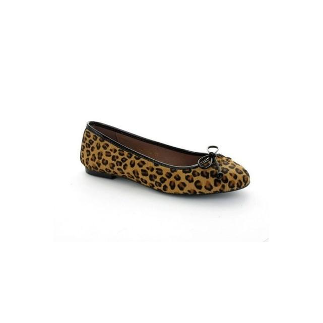 Ballerine en cuir motif leopard Gadea