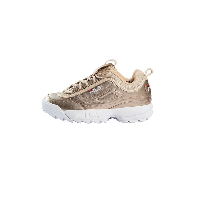 Baskets Fila Femme or Disruptor MM Gold