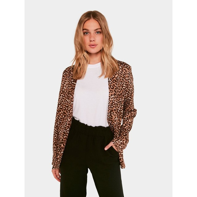 Blazer femme imprime leopard Pieces