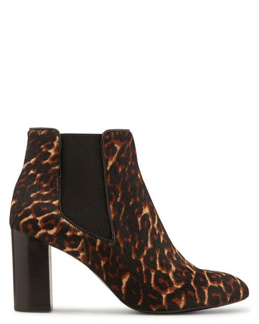 Boots femme cuir talon haut léopard Minelli