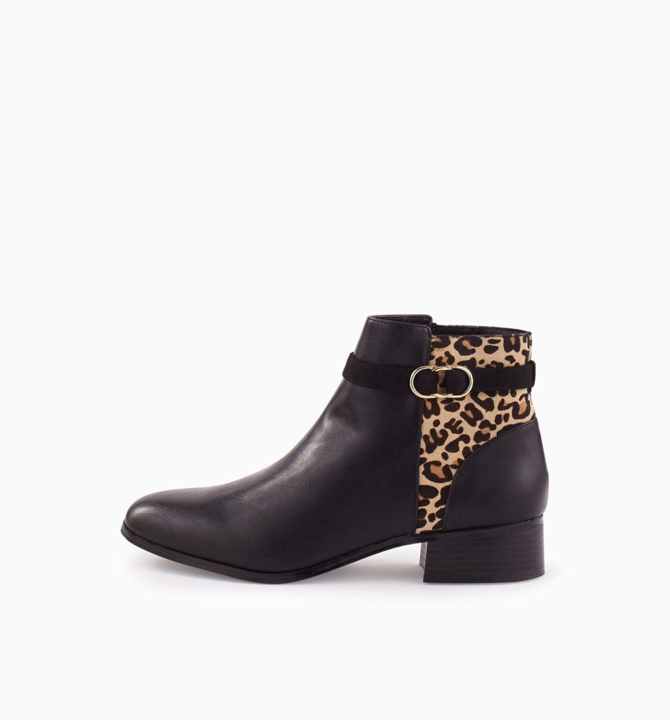 Boots femme imprime leopard