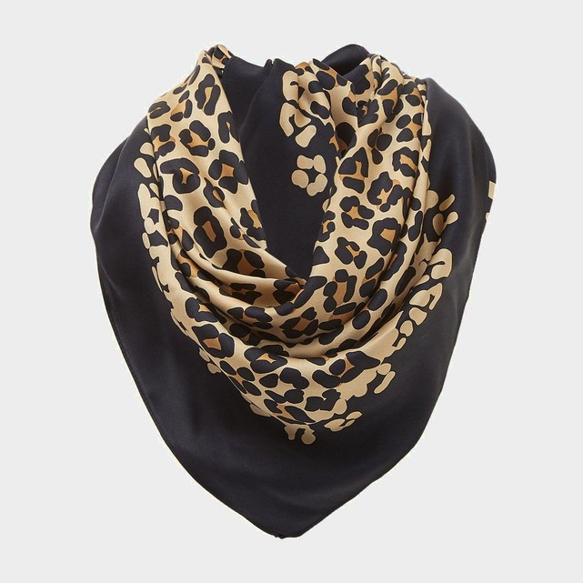 Echarpe foulard imprime leopard Dune London