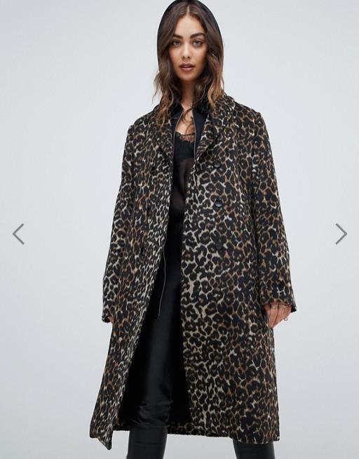 Manteau Religion imprime leopard