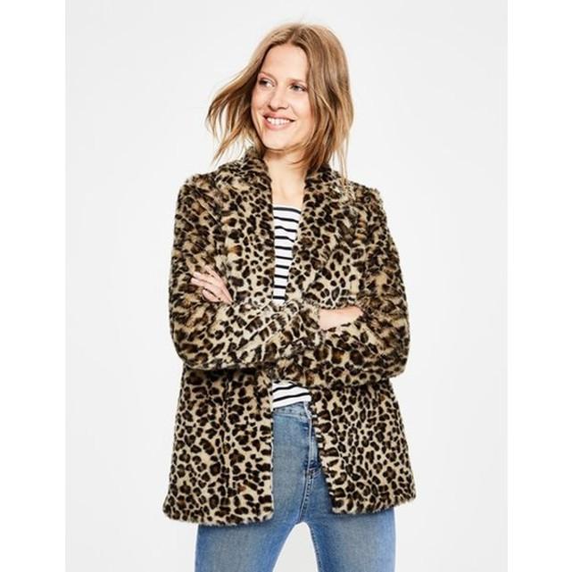 Manteau fausse fourrure leopard Boden