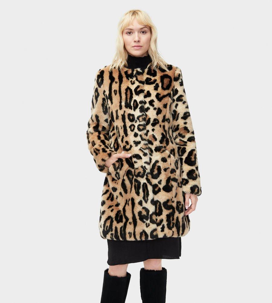 Manteau fausse fourrure leopard UGG