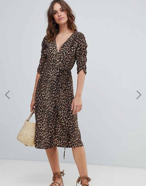 Robe mi longue imprime leopard Faithfull