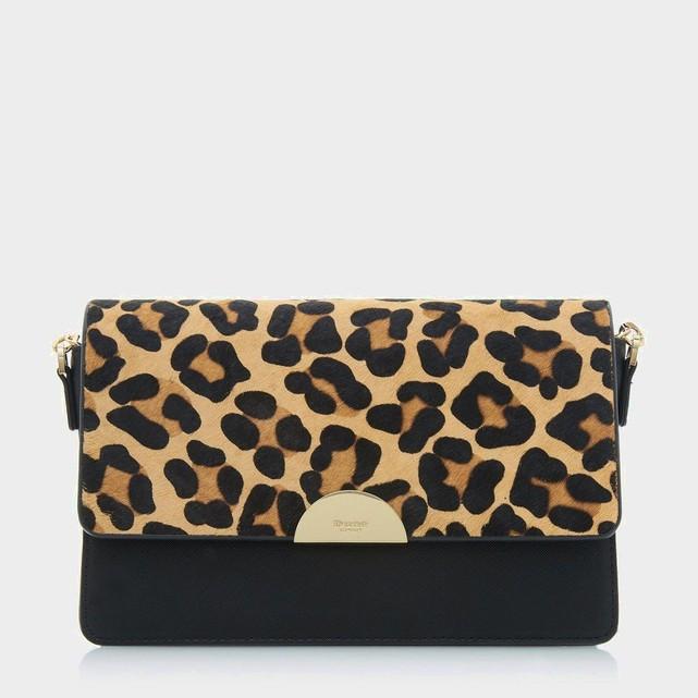 Sac a bandouliere imprime leopard Dune London