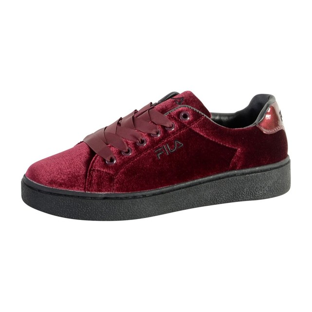 Sneakers Fila Upstage V Low WMN velours rouge bordeaux