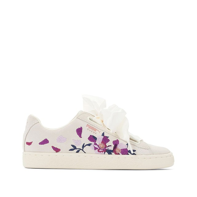 Sneakers Puma femme Wn Suede broderies fleurs