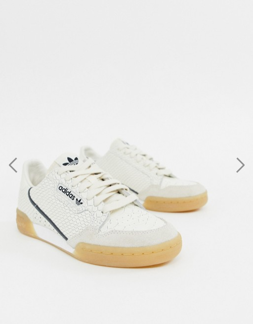 Sneakers femme Adidas Originals Continental 80 serpent blanc