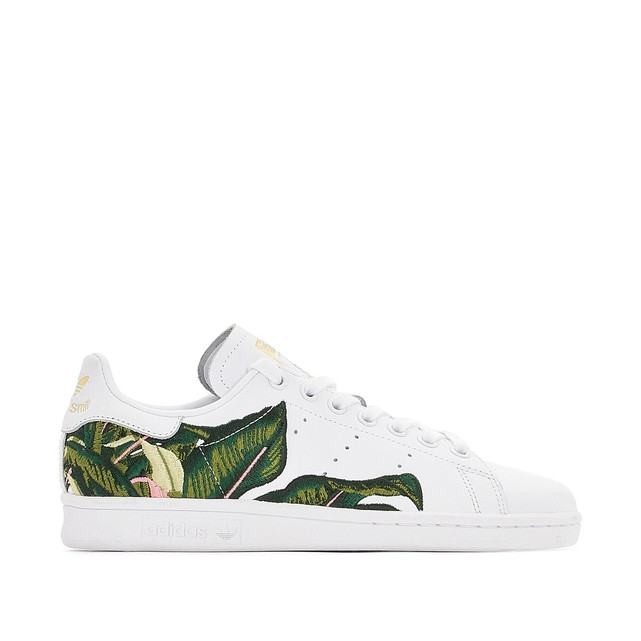 Sneakers femme Adidas Originals Stan Smith broderies feuillage