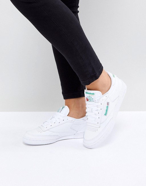 Sneakers femme Reebok club C85 blanches