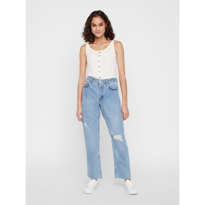 Jean loose fit clair femme taille haute Noisy May