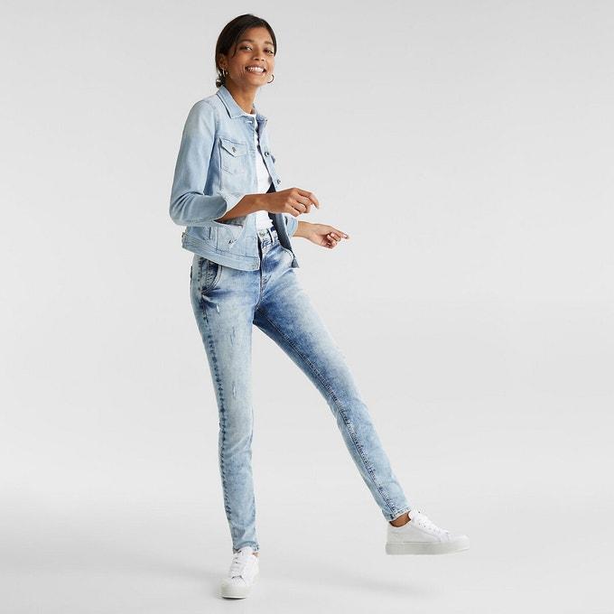 Veste jean claire bleach en coton bio Esprit
