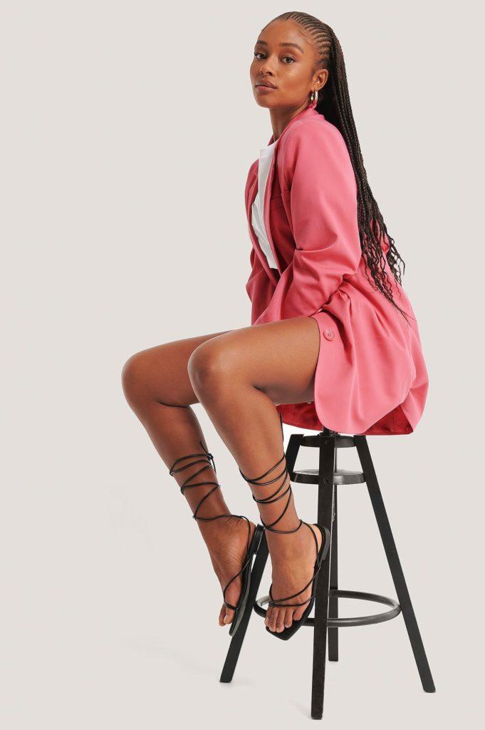 Sandales femmes noires naked lanieres