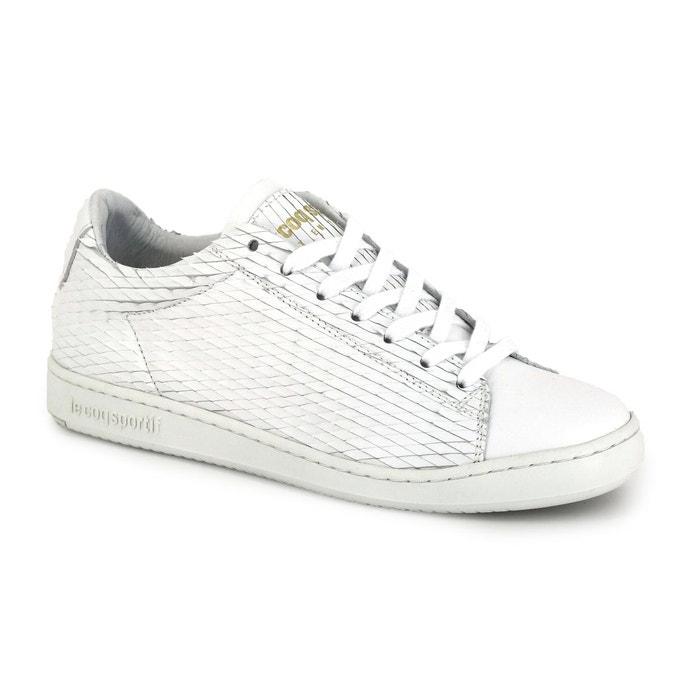 Sneakers rares tendances femmes Le Coq sportif Lazon Lac des Cygnes, cuir blanc