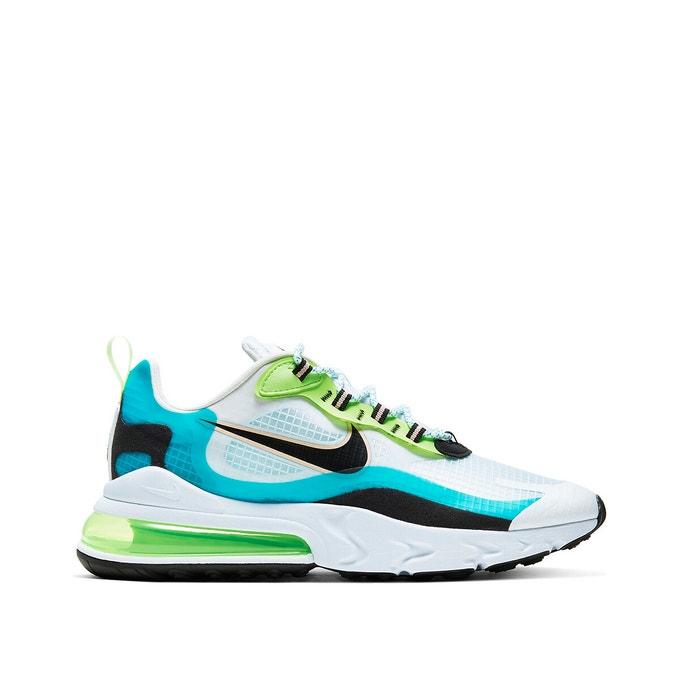 Baskets tendances Nike Air Max 270 react SE vert et bleu