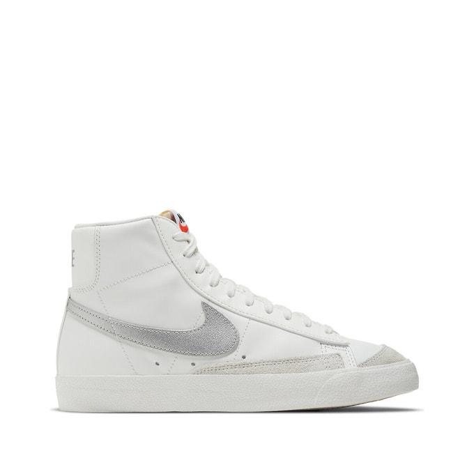 Baskets hautes Nike Blazermid 77 blanches et argentées