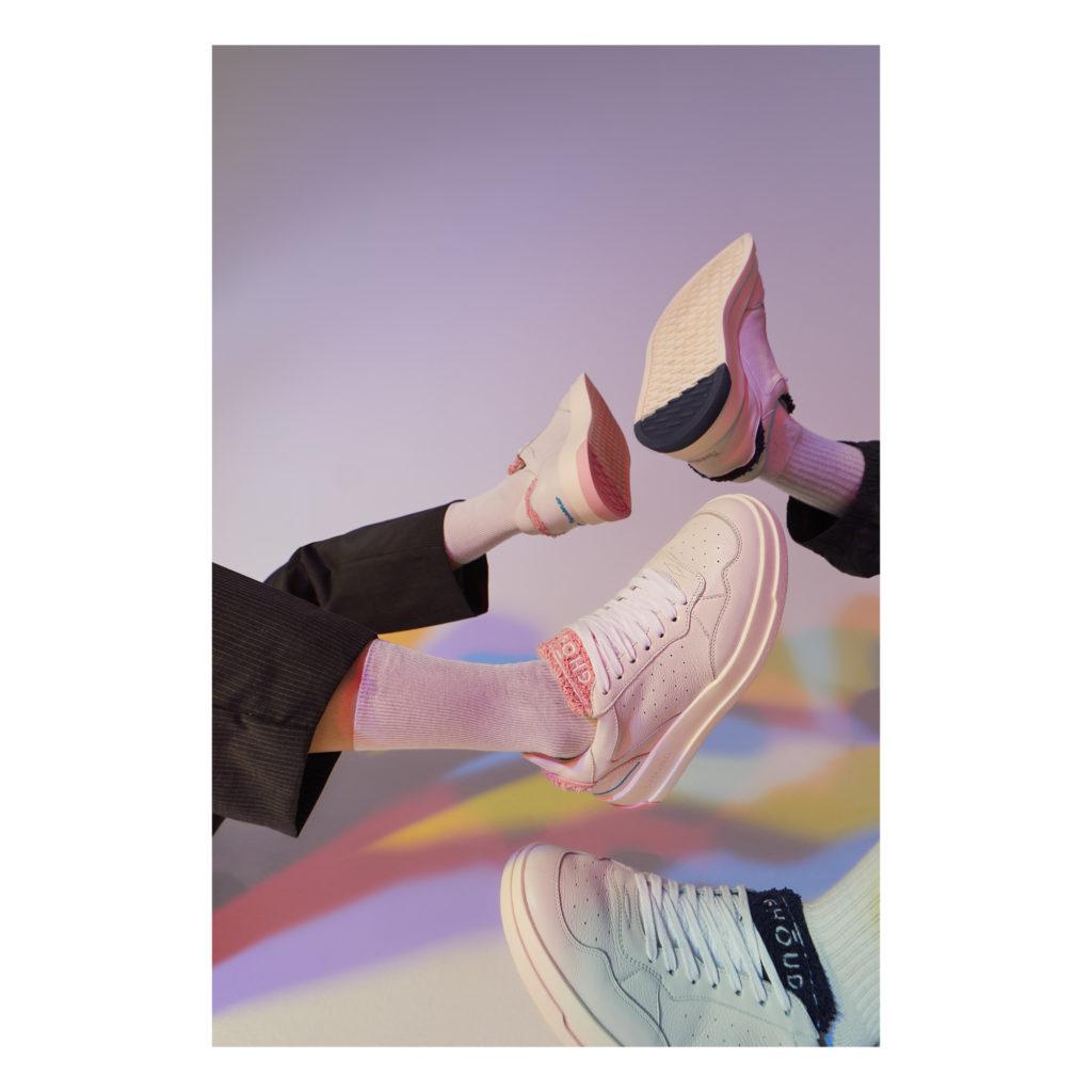 Sneakers femme Ghoud modèle Tweener Rose et Blanc